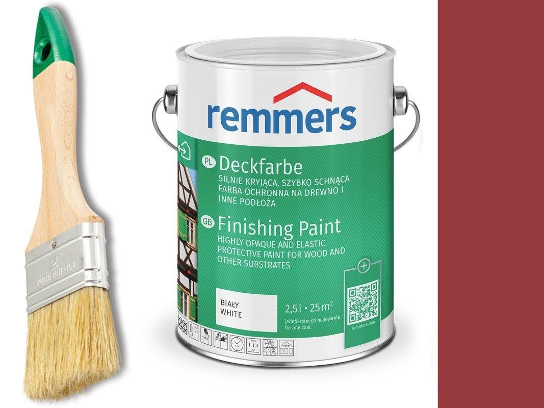 Remmers Farba do drzwi mebli CZERWIEŃ SZWEDZKA 2,5
