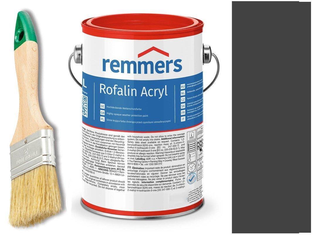 Remmers Rofalin Acryl farba do drewna CZARNY5 L