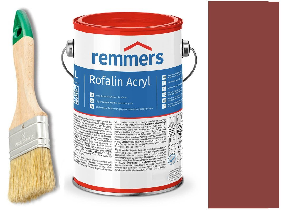 Remmers Rofalin Acryl farba do drewna CZERWONY 5 L
